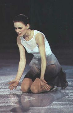 Ekaterina Gordeeva skating solo for the first time since childhood, at the tribute show for her late husband, Sergei Grinkov. Beautiful beyond words.