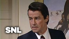 President Reagan (Phil Hartman) acts hopeless and clueless in public, but in private he's an evil mastermind who knows every detail about everything happenin. Carlos Mencia, Satirical Articles, One Line Jokes, Phil Hartman, Snl Saturday Night Live, R Lol, Attention Span, Comedy Tv, Jokes