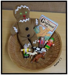 """The Gingerbread Man story basket from Rachel ("""",)"""