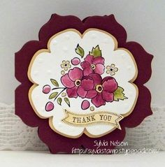 Love this flower card stampin up