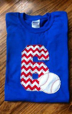 Chevron Baseball Team TShirt by KBJsMonogram on Etsy, $25.00