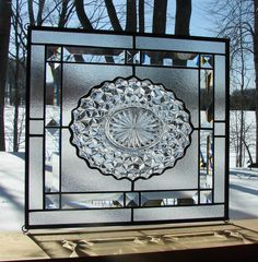 Fostoria American Crystal Cubist with by Barbarasstainedglass