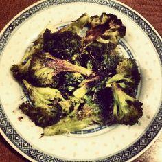 Brooccoli pan seared in chili oil