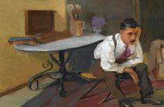 The Artist in his Studio : Nikolaos Lytras : Expressionism : self portrait - Oil Painting Reproductions Fine Art Amerika, Greek Paintings, Video Artist, Greek Art, Framed Prints, Art Prints, Oil Painting Reproductions, Conceptual Art, Artist At Work