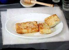 feta saganaki con pasta fillo e miele
