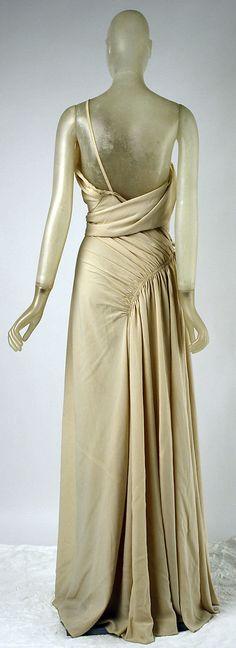 Vionnet Dress - Back - SS 1937 - by Madeleine Vionnet (French, 1876-1975) - Silk - Modèle n°4099 - @~ Watsonette