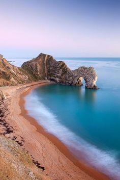 Photograph-Deserted beach at twilight, Durdle Door, Dorset, England. Photo Print expertly made in the USA Most Beautiful Beaches, World's Most Beautiful, Beautiful World, Beautiful Places, Romantic Places, Beach Images, Beach Photos, Samos, Destination Voyage