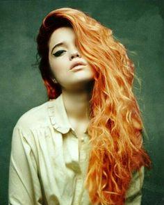beautiful red/orange hair!
