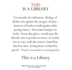 This is a library. I want to print this huge and hang it above my book shelves!