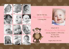 Super cute 1st Birthday invite... now I just have to figure out what pictures to pick..