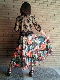 """Espalda de la chaqueta de pedreria con croche hecho a mano del modelo """"fantasía"""" by isabella"""