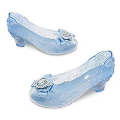 Disney Cinderella Costume Shoes for Kids Size YTH Blue Genuine, Original, Authentic Disney Store Cinderella silvertone heart cameo on satin bow Clear gel slipper with infused glitter Light-up heels Floral accents with faceted jewel centers Disney Princess Costumes, Cinderella Costume, Disney Costumes, Cinderella Slipper, Cinderella Shoes, Cinderella Dresses, Light Up Shoes, Lit Shoes, Girls Sneakers