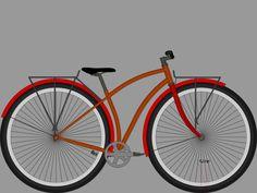 """A 36"""" cruiser bike."""