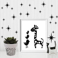 Giraffe printable, safari nursery decor, giraffe nursery, giraffe print, nursery animal print, printable download, giraffe, safari nursery