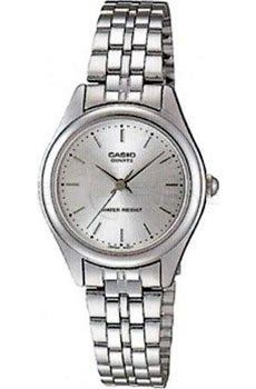 Casio General Ladies Watches Metal Fashion LTP-1129A-7A - WW Casio. $23.97. Module 1330, Case Size: 26mm Diameter, 7mm Thickness. Water Resistant. 3-Hand Analog. Accuracy: +/-20 seconds per month. Battery SR626SW, Approx. battery life: 3 years
