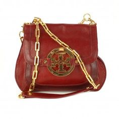 7aa1b58965d3 TORY BURCH RED LEATHER SHOULDER PURSE #toryburch #leather #shoulderbag Top  Designer Bags,