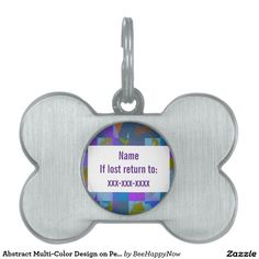 Abstract Multi-Color Design on Pet Tag