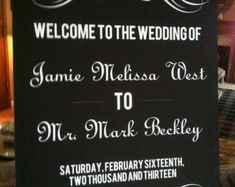 Printable Oval Wedding Reception Welcome Sign by WeddingsByJamie
