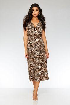 Black And Brown Leopard Print Jumpsuit