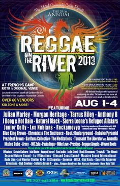 Reggae on the River 2013 Lineup!