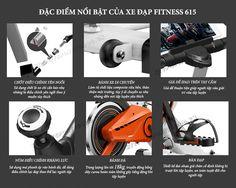 Đặc điểm nổi bật của xe đạp tập thể dục Fitness 615