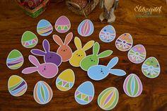 Húsvéti letölthető csomag: kosárka, nyuszifogat, tojástartó gyerekeknek   Életszépítők Easter Decor