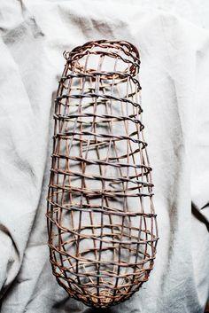 Fish trap weaving, Harriet Goodall