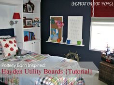 DIY Pottery Barn Inspired Utility Boards- Great for your kids playroom or bedroom!