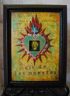 Mixed Media Wall Art  Day of the Dead by desertdreamstudios