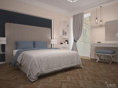 Aranżacja sypialni. Projekt wnętrza Valent.pl Studio, Bed, Furniture, Home Decor, Homemade Home Decor, Stream Bed, Studios, Home Furnishings, Interior Design