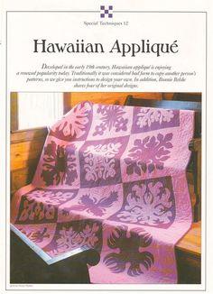Hawaiian Applique    Best Loved Wall Quilt Pattern Leaflet #BestLovedQuiltPatternCollection