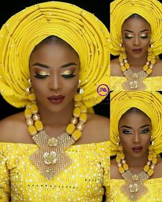 """12.6k Likes, 69 Comments - Africa's Top Wedding Website (@bellanaijaweddings) on Instagram: """" Makeup by @tintsmakeuppro Asoooke by @abake_alaso_oke Beads @ripplebeads Lashes @que_lashes…"""""""