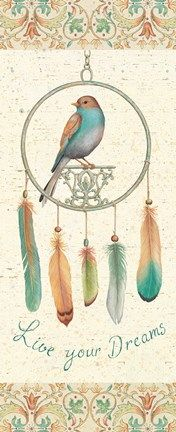Framed Feather Tales IV Print