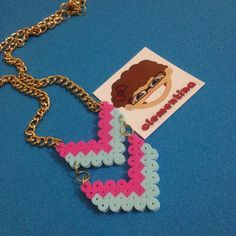 Necklace perler beads by Clementina Inventa