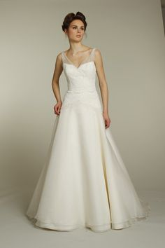 A Line Bridesmaid Dresses With Straps http://www.lanlanbridals.com/a-line-bridesmaid-dresses-with-straps/
