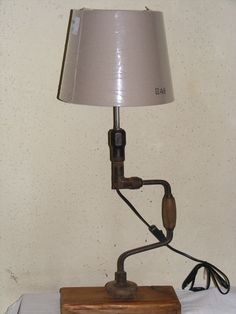 Hand drill table lamp