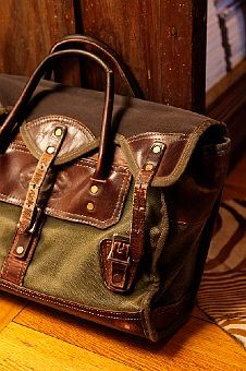 """Love the worn leather look of this bag. Makes me think """"college professor."""""""