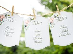 Wedding seating chart, printable seating chart, wedding reception, find your seat, wedding table numbers, table number tags, guest names #OBercailDesign