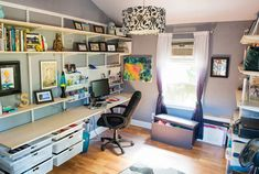 "Container Stories: Home Office Organization: Our Contest Winner's ""Shed"" Gets a Stunning Makeover"