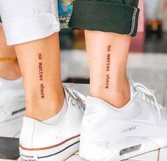 42 Tattoo Quotes that will make you irresistible! Bff Tattoos, Friend Tattoos Small, Quote Tattoos Girls, Tiny Tattoos For Girls, Tattoos For Women Small, Couple Tattoos, Trendy Tattoos, Feminine Tattoos, Small Tattoos
