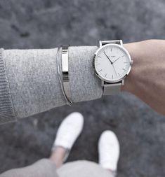 klarf watch silver mesh bracelet uk minimalistic watch