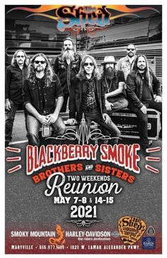 Blackberry Smoke, May 7th, Harley Davidson, Sisters, Live Rock