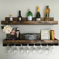 "✨New listing alert! I'm fawning over these new 36"" wine rack shelves! I am so happy when a custom order turns into a permanently listing! Thanks to Jessica!"