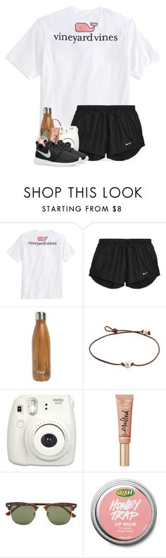 """Going shopping"" by strawberry-styles ❤ liked on Polyvore featuring Vineyard Vines, NIKE, S'well and Ray-Ban"