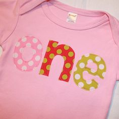 Girls First Birthday ONE Shirt - great shirt for her to change into to be more comfortable halfway through the party.