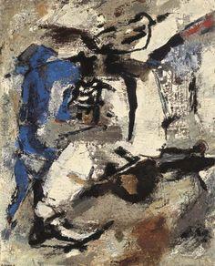Giuseppe Santomaso (Italian, 1907-1990), Canto notturno n. 2, 1960. Oil on canvas, 162 x 130 cm.