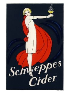 AP2805K - Schweppes Cider, Vintage Advert from 1920s (30x40cm Art Print)