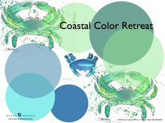 Coastal Color Retreat Colors - To Add a Touch of the Tropics To Your Home !