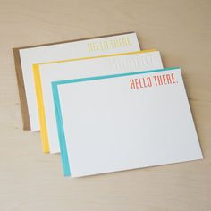 simple letterpress cards