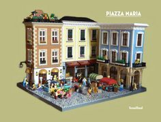 Piazza Maria - A small town sqaure of European influence. There is a small market and shops consisting of a deli, a furniture shop and an ice cream parlour.